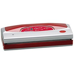 Magic Vac GENIUS SILVER - Vacuum Machine - 800 mbar - 3.15 kg - 390 x 140 x 100 mm - 230 V - 50 Hz - Red / Sil